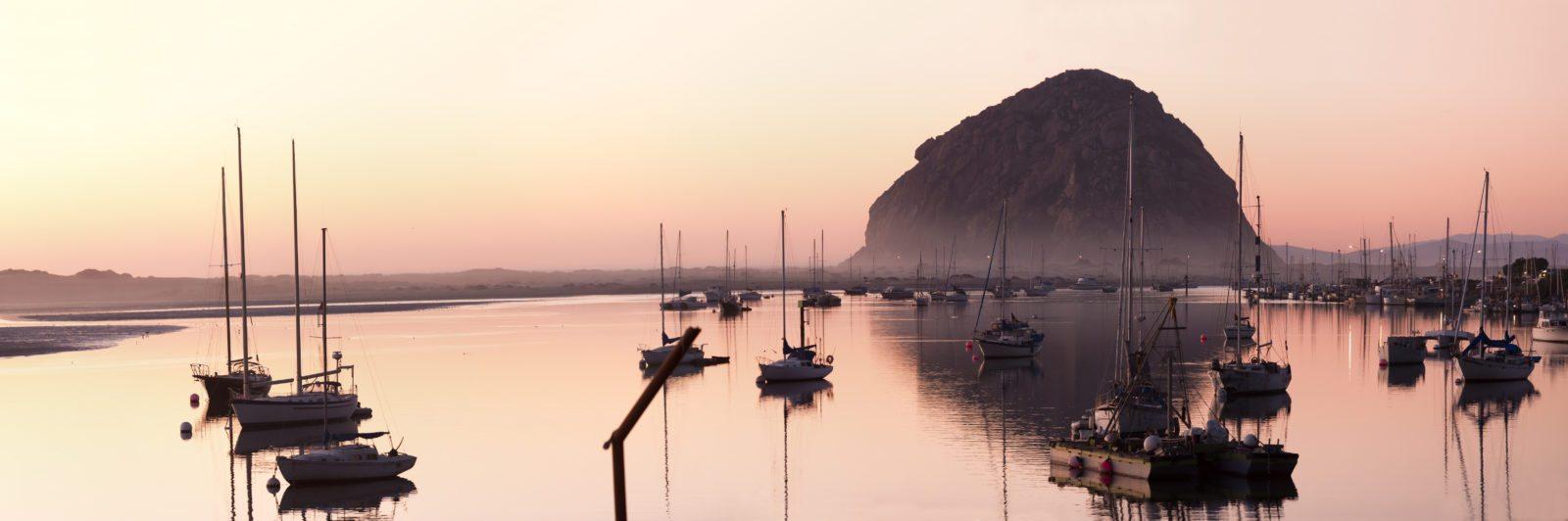 morro bay at dusk