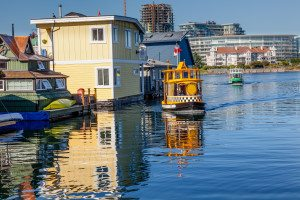 Floating Home Village Water Taxis Inner Harbor Victoria