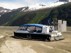 Hovercraft at the base of the Glacier.